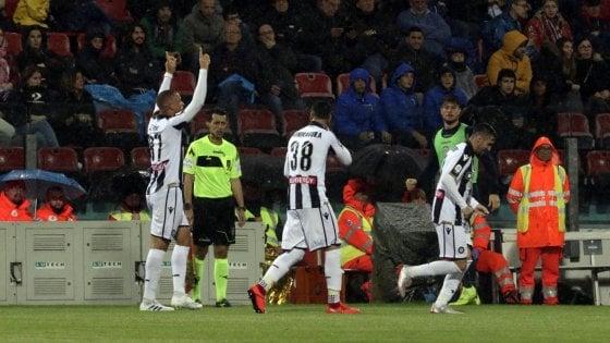 Cagliari-Udinese 1-2: rimonta bianconera, De Maio firma il colpaccio
