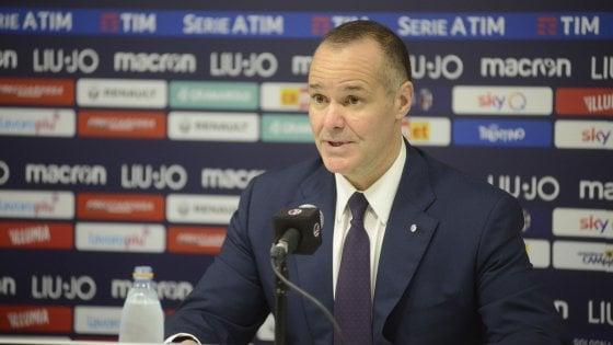 """Bologna, Saputo: """"E' ora di cambiare passo. Avanti con Mihajlovic? Sono ottimista''"""
