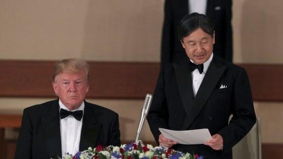 Trump in Giappone incontra l'imperatore: è il primo ospite straniero