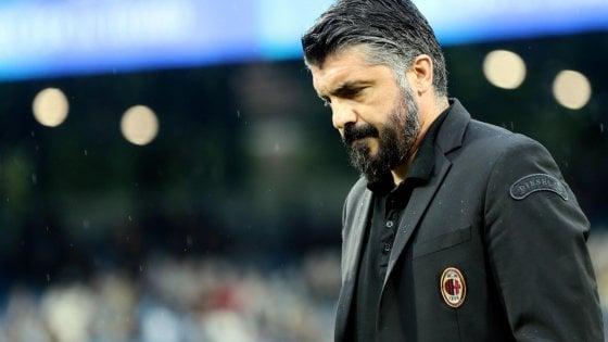 """Milan, l'addio di Rino Gattuso: """"Diciotto mesi indimenticabili ma è la scelta giusta"""". Ufficiale anche il divorzio da Leonardo"""