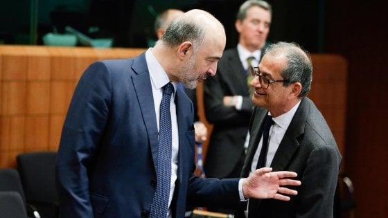 Il commissario Moscovici col ministro Tria
