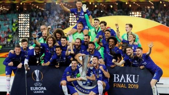 Europa League, Chelsea-Arsenal 4-1: è il trionfo di Sarri, Gunners travolti