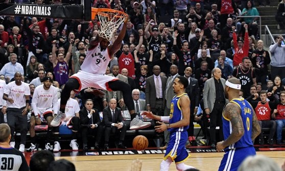 Basket, Finals Nba: sorpresa Toronto, Golden State ko in gara-1