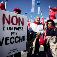 Pensionati, le immagini della manifestazione di Roma