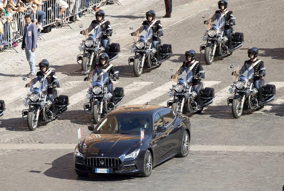 La Maserati Quattroporte utilizzata a Roma dal Presidente Mattarella in occasione della Festa della Repubblica