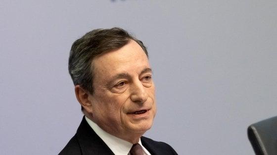 Bce, Draghi: Piano di riduzione del debito italiano deve essere credibile