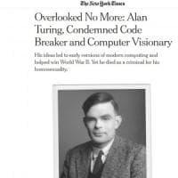 Nyt, dopo 65 anni l'omaggio ad Alan Turing, il genio matematico perseguitato per...