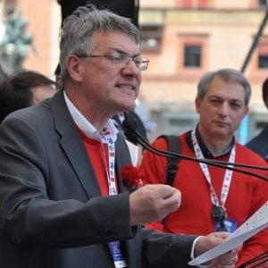 Il leader della Cgil Landini