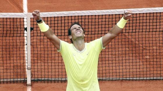 Tennis, Roland Garros: dodicesimo trionfo di Nadal, Thiem si arrende in finale