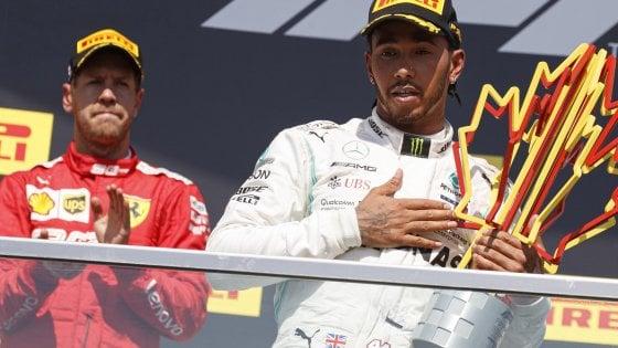 F1, Gp Canada: Vettel beffato e furioso. Primo ma penalizzato, vince Hamilton