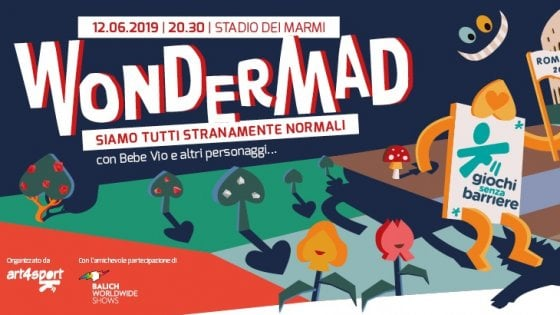 """Giochi senza barriere: il """"Mondo delle meraviglie"""" invade lo Stadio dei Marmi di Roma"""