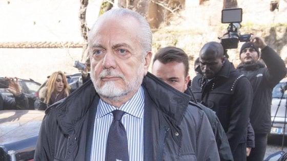 Napoli, De Laurentiis: ''Icardi non lo compro. James Rodriguez e Lozano? Vedremo...''