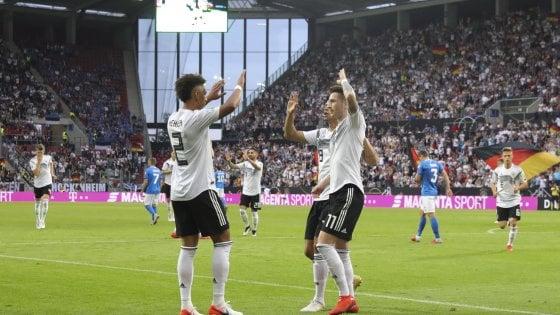 Qualificazioni Europee: valanga Germania sull'Estonia, ok Belgio e Francia