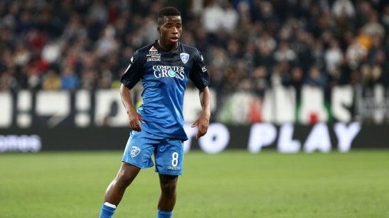 Juventus, preso dall'Empoli Traoré: sarà girato al Sassuolo