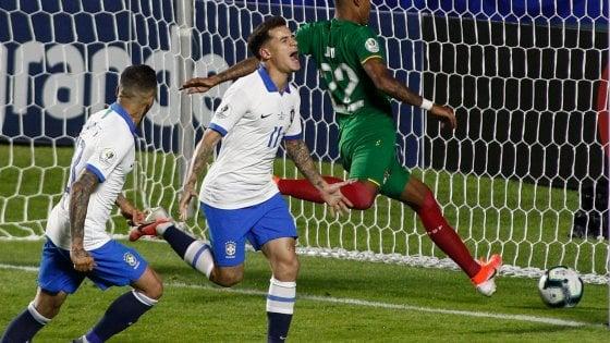 Coppa America, Coutinho guida il Brasile: 3-0 alla Bolivia