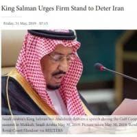 """Riad: """"Iran responsabile attacco alle due navi"""". Convocato a Teheran l'ambasciatore..."""
