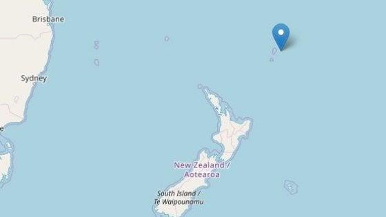 Nuova Zelanda, terremoto magnitudo 7.2 nel Pacifico. Colpite isole Kermadec