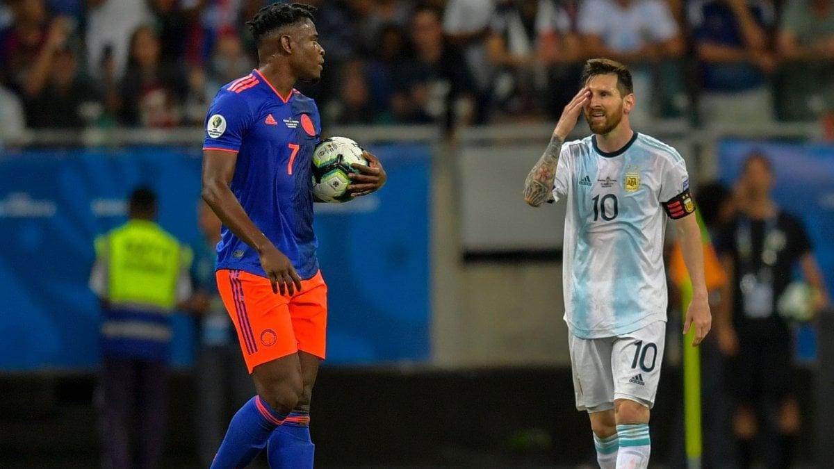 Coppa America, Colombia-Argentina 2-0: decidono Martinez e Zapata