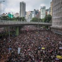 Hong Kong, in due milioni in piazza nonostante il ritiro della legge sull'estradizione