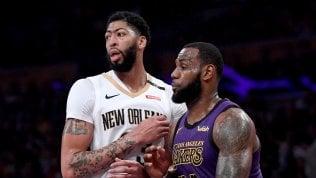 Nba: colpo Lakers, arriva Anthony Davis. LeBron: ''E' solo l'inizio''