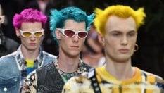Borse e scarpe visti sulle passerelle della moda uomo