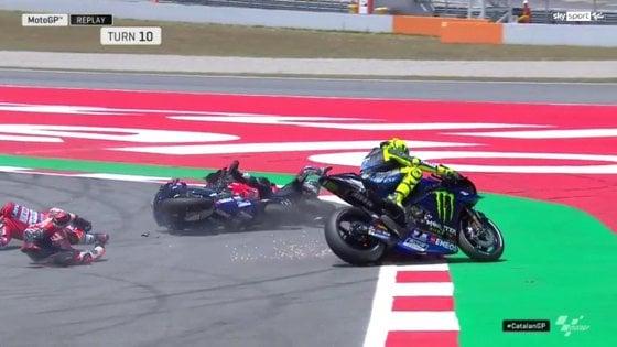 """MotoGp, Catalogna; Rossi: """"Peccato, puntavo al podio"""". Vinales: """"Punite Lorenzo"""""""