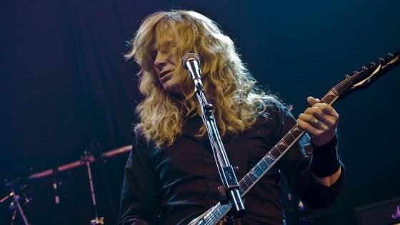 """Megadeth, annuncio shock di Dave Mustaine: """"Ho un cancro alla gola"""""""