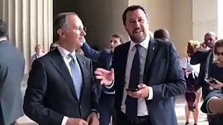 Salvini e la scalinata di Rocky: l'ambasciatore lo corregge