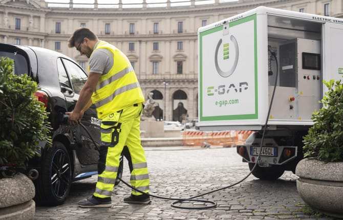 E-GAP, la ricarica per l'elettrica è anche on demand