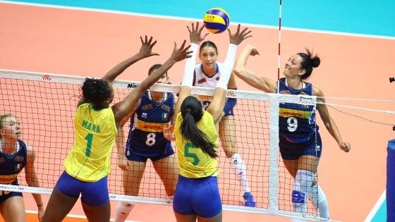 Volley, Nations League: azzurre ko contro il Brasile