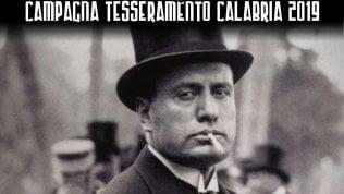 Forza Nuova, in Calabria con Mussolini per la campagna di tesseramento