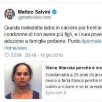 """Salvini invoca la sterilizzazione di una donna rom: """"Ladra, in carcere in condizione di..."""