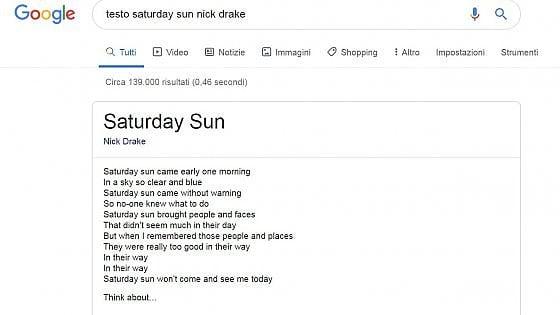 Google mostrerà la fonte dei testi delle canzoni