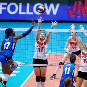 Volley, Nations League: le azzurre piegano al tie-break la Turchia
