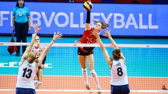 Volley, Nations League: ko con il Belgio, azzurre al quarto posto. Ora la Final Six