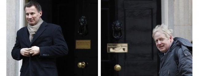 Per diventare premier sarà sfida tra Boris Johnson e Jeremy Hunt