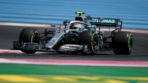 F1, Gp Francia: Mercedes davanti nelle libere, Bottas precede Hamilton