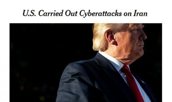 """Iran: ondata di cyber attacchi Usa contro Teheran. Trump: """"Mai revocato attacco aereo, l'ho solo sospeso"""""""