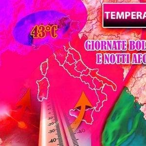 Meteo, caldo bollente: giovedi 43 gradi ad Alessandria, 40 a Milano. Al Nord è un record che non si verifica da cento anni