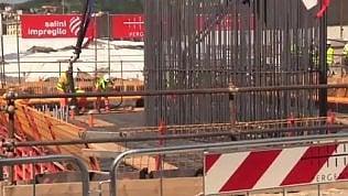 La prima colata di calcestruzzo: così nasce il nuovo ponte di GIULIA DESTEFANIS