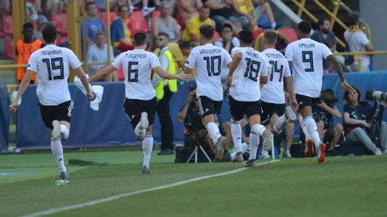 Europei Under 21: la Romania sogna un tempo, la Germania si scatena in extremis e va in finale 4-2