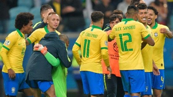 Coppa America, Brasile in semifinale col brivido: Paraguay battuto solo ai rigori