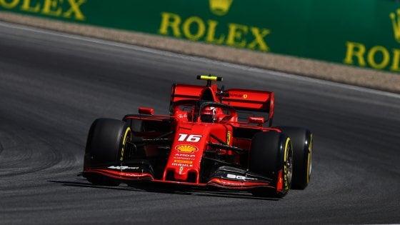 F1, Gp Austria: Leclerc domina le libere, Vettel invece esce di pista