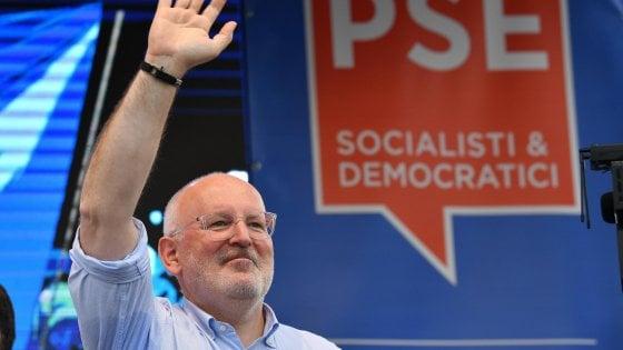 """Totonomine, Timmermans in vantaggio per la Commissione. Salvini lo boccia: """"È di sinistra"""""""