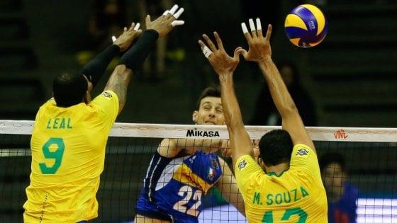 Volley, Nations League: l'Italia si congeda con una sconfitta contro il Brasile