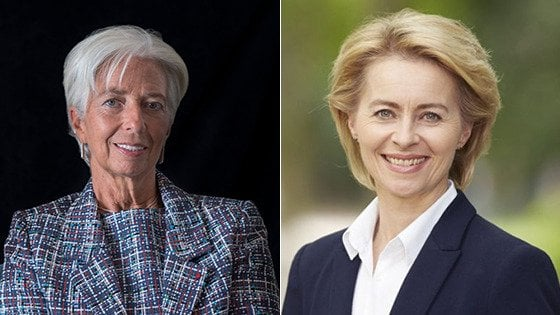 Nomine Ue, due donne leader in Europa: Ursula von der Leyen alla Commissione. Christine Lagarde alla Bce