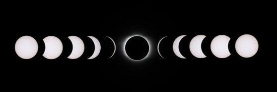Eclissi, ecco il Sole nero visto dallo spazio