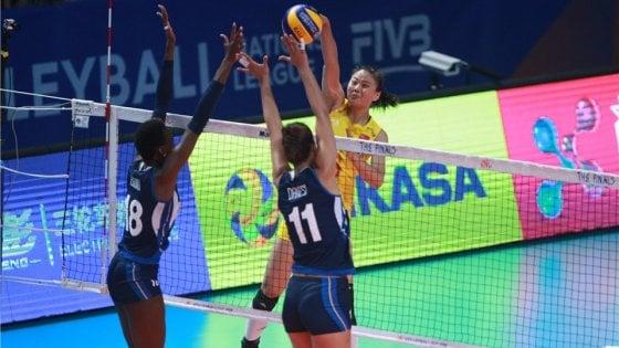 Volley, Nations League: Italia eliminata, la Cina vince la gara spareggio