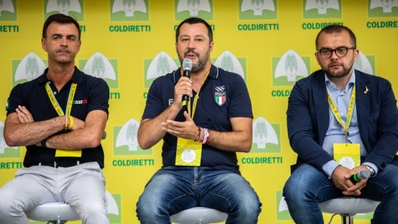 Matteo Salvini al Castello Sforzesco di Milano per il VIllaggio Coldiretti