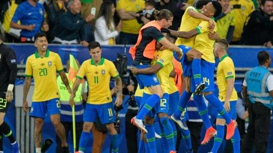 Coppa America, fa festa il Brasile: Perù battuto 3-1 in finale